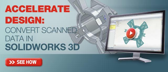 Accelerate Design convert scanned data
